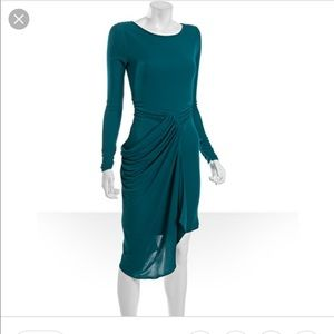 BCBGMAXAZRIA deep jade sosie dress